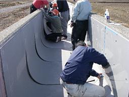 3.緩衝材設置